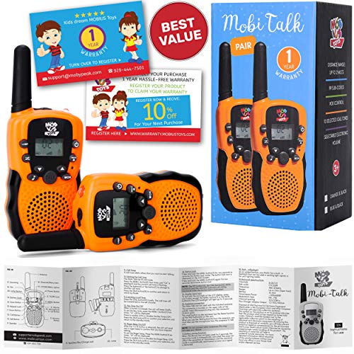 Walkie Talkies for Kids - (Vox Box) Voice Activated Walkie Talkies Toy for Kids, Two Way Radios Pair for Boys & Girls, Limited Edition Color Best Gift Long Range 3+ Miles Childrens Walkie Talkie Set