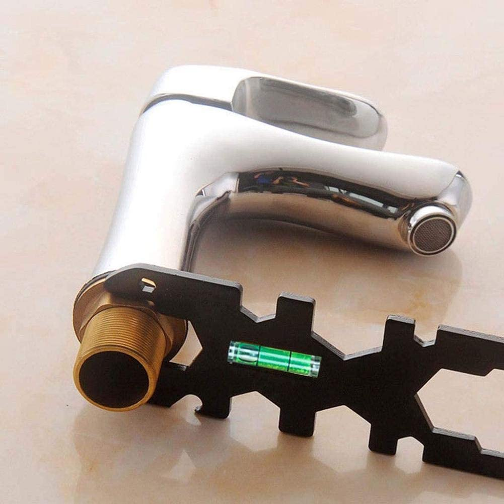 Heilsa Multifunctional Faucet Wrench Universal Home Improvement Hand Spanner for Plumbers Homeowners Faucet Sink Installation Repair Tool