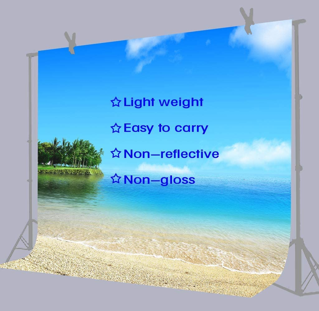 10x8ft Blue Sky Sea Beach Photography Backdrop Wedding Background Photo Studio Props Holiday Banner Decor HXFU123