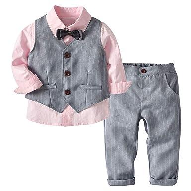 best service eb3b1 4aefe Zhuhaixmy Baby Junge Kleider Outfits Anzug - 4Pcs Lange ...
