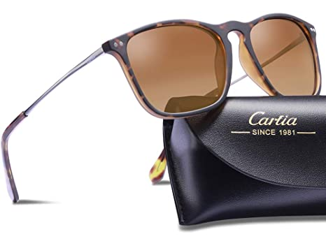 267e82c1c1 Amazon.com  Carfia Vintage Polarized Sunglasses for Men