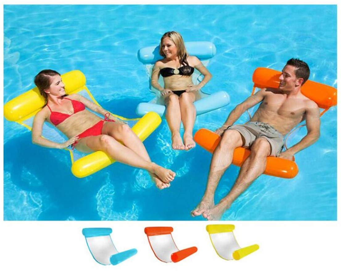 Amazon.com: Tmrow - 1 hamaca hinchable flotante con forma de ...