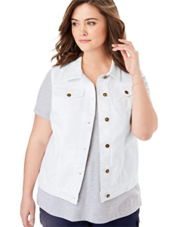 f4ce06e3fbc Woman Within Women s Plus Size Stretch Denim Vest