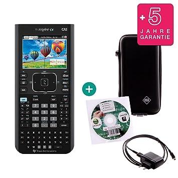 Schutzfolie Lern-CD Ladekabel TI Nspire CX CAS Taschenrechner Grafikrechner