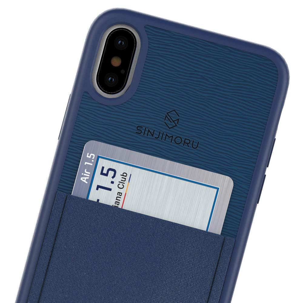 Sinjimoru Funda iPhoneX con Soporte para Tarjeta, Funda para Tarjeta iPhone X o Funda con Monedero para iPhone X con Billetera para Tarjeta. Sinji ...