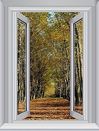 Jp London Cwposlt7016 Ustrip Lite Removable Wall Decal Sticker Window Mural Trees Path Memory Lane Autumn 24 Inch X 18 Inch Amazon Com