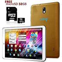 Indigi 7 Tablet PC Android 4.2 GOLD Leather Back HDMI Flash Camera FREE 32GB