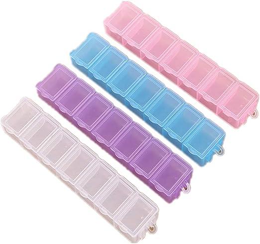 SHIZHESHOP Pequeña Caja de Almacenamiento de plástico con 7 ...