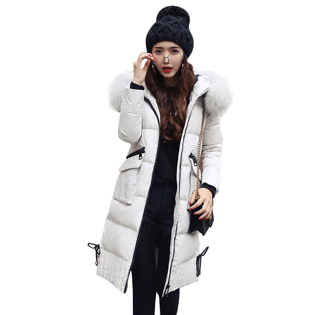 (ラシューバー) Lasuiveur コート レディース ダウンコート ロングコート ダウンジャケット アウター  防風 防寒 冬 シンプル スリム フード付く 大きいサイズ B077QNYYYB M|グレー グレー M