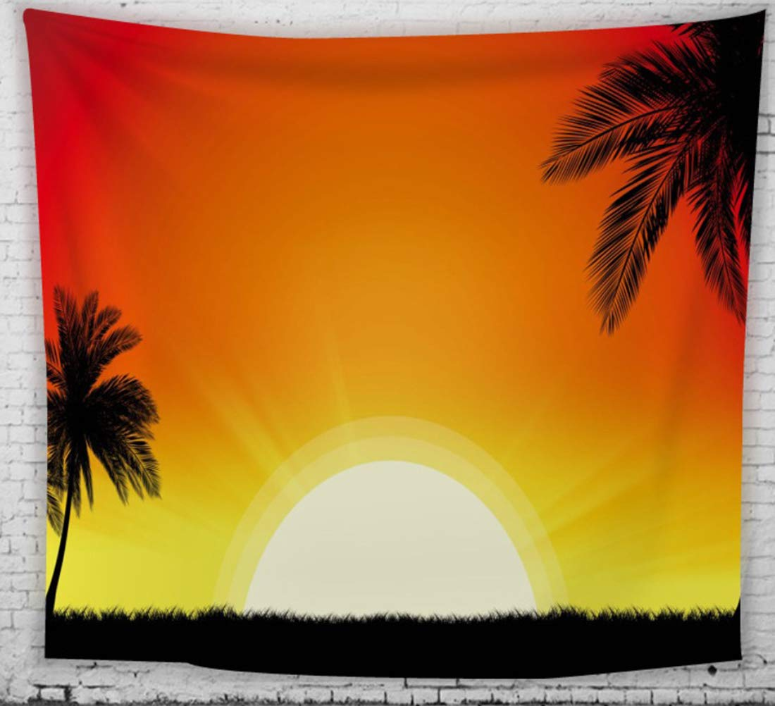 Homiest Red Sunset Tapestry 3D Tapestry Sun Wall Hanging for Bedroom Living Room Home Decor 51x59 Inches