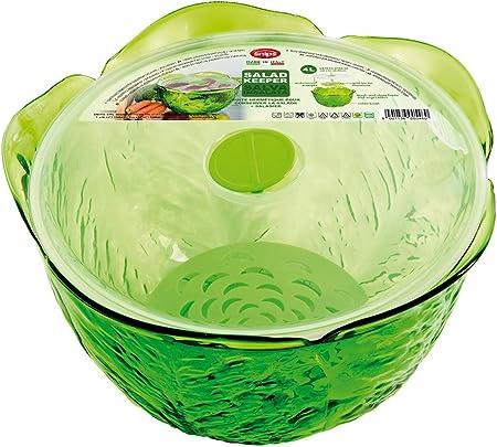 Plastique Vert 24,5 x 24,5 x 15,5 cm SNIPS A04064//01 Conserveur Salade
