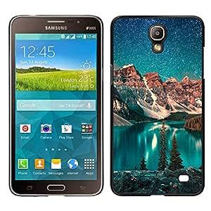 EJOY---Cubierta de la caja de protección para la piel dura ** Samsung Galaxy Mega 2 ** --Lago Estrellas Noche trullo Cielo invierno de Alaska