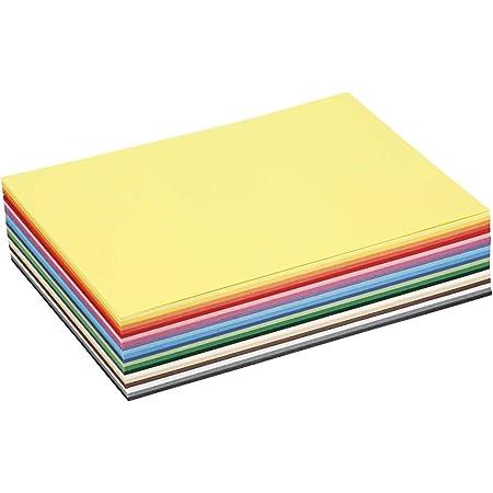 Juego de 20 tarjetas de cartulina Colortime varios colores