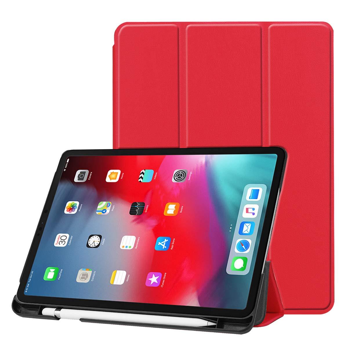 Torubia 12.9 iPad Pro 2018用 12.9 インチ 2018 ウォレットケース iPad Pro Pro 12.9 インチ 2018 レザーケース プレミアムPUレザー 表面 フォリオスタンド バンパーバックカバー iPad Pro 12.9 インチ 2018用 ダークブルー, レッド, YC01-SM-242 レッド B07KFX18ND, ゴールド珈琲:756e21c3 --- harrow-unison.org.uk