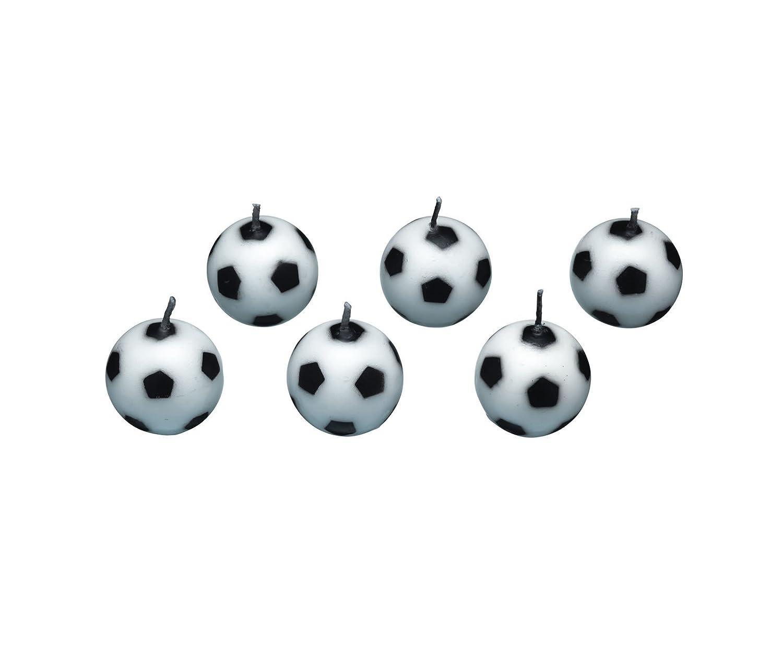 Sweetly Does It - Set di 6 candeline a forma di pallone da calcio Kitchencraft SDIBALLCAND