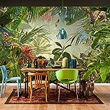 LWCX Southeast Asia Style Tropical Rain Forest Photo Wallpaper Restaurant Clubs Ktv Bar Modern Creative Nature Murals 280X200CM