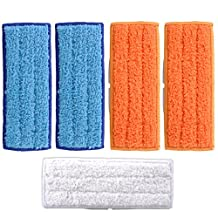 KEEPOW 5 Packs Washable Mopping Pads for iRobot Braava Jet 240 241 Included (2 pcs Wet Pads, 2 pcs Damp Pads and 1pcs Dry Pad)