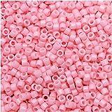 Miyuki Duracoat Delica, Japanese 11/0 Seed Beads, 7.2g Tube, Opaque Light Carnation Pink DB2116