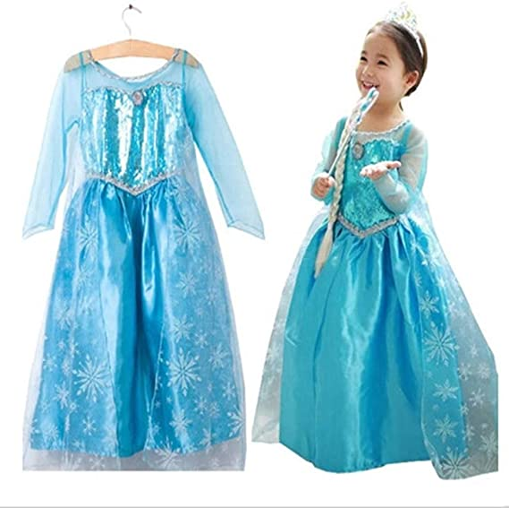 Ogquaton Elegante Niño Reina de Nieve Elsa Disfraz Princesa ...