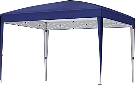 White GCT32WT Weight Bags SONGMICS Gazebo Anti-UV Waterproof Pop Up Awning Canopy Tent with Wheeled Carry Bag 2 Sidewalls for Outdoor Garden Patio Party Commercial Events 3 x 3 m Marquee Tent