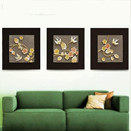 Amazon Com Pllp Triple Relief Embossed Painting Embossed Wall