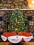 Snowing Christmas Tree - Red Base- 4.5'