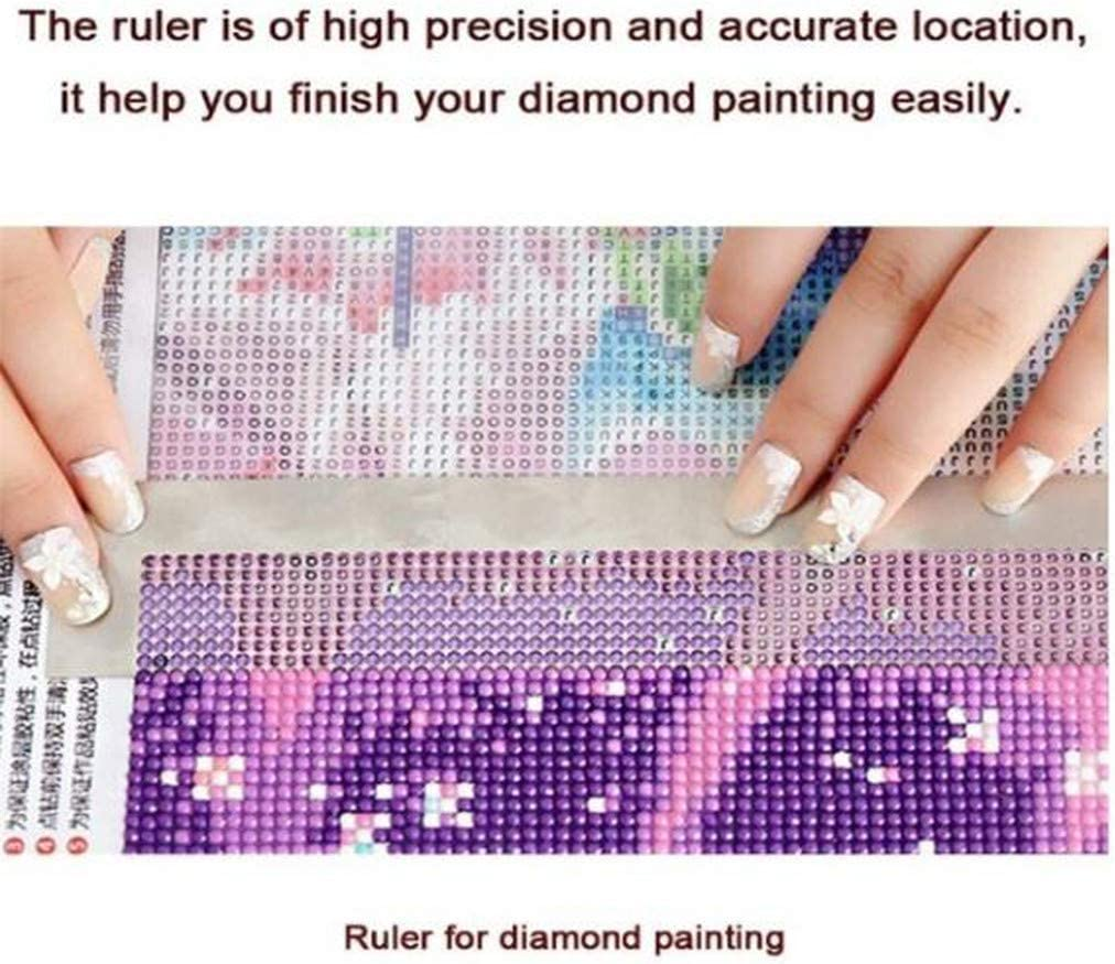 Garispace Diamond Painting Ruler Nano DIY 5D Diamond Painting Stainless Steel Ruler Tool with 50 Grids 141mm Cross Stitch Point Drill Tool,11cm//216 Hole