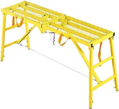 SwZQ-Escaleras plegables Plataforma Escalera Portátil elevable Ingeniería Escalera engrosamiento Hierro Escalera Familia/exterior multifuncionales Las escaleras de tijera Escaleras de mano: Amazon.es: Bricolaje y herramientas