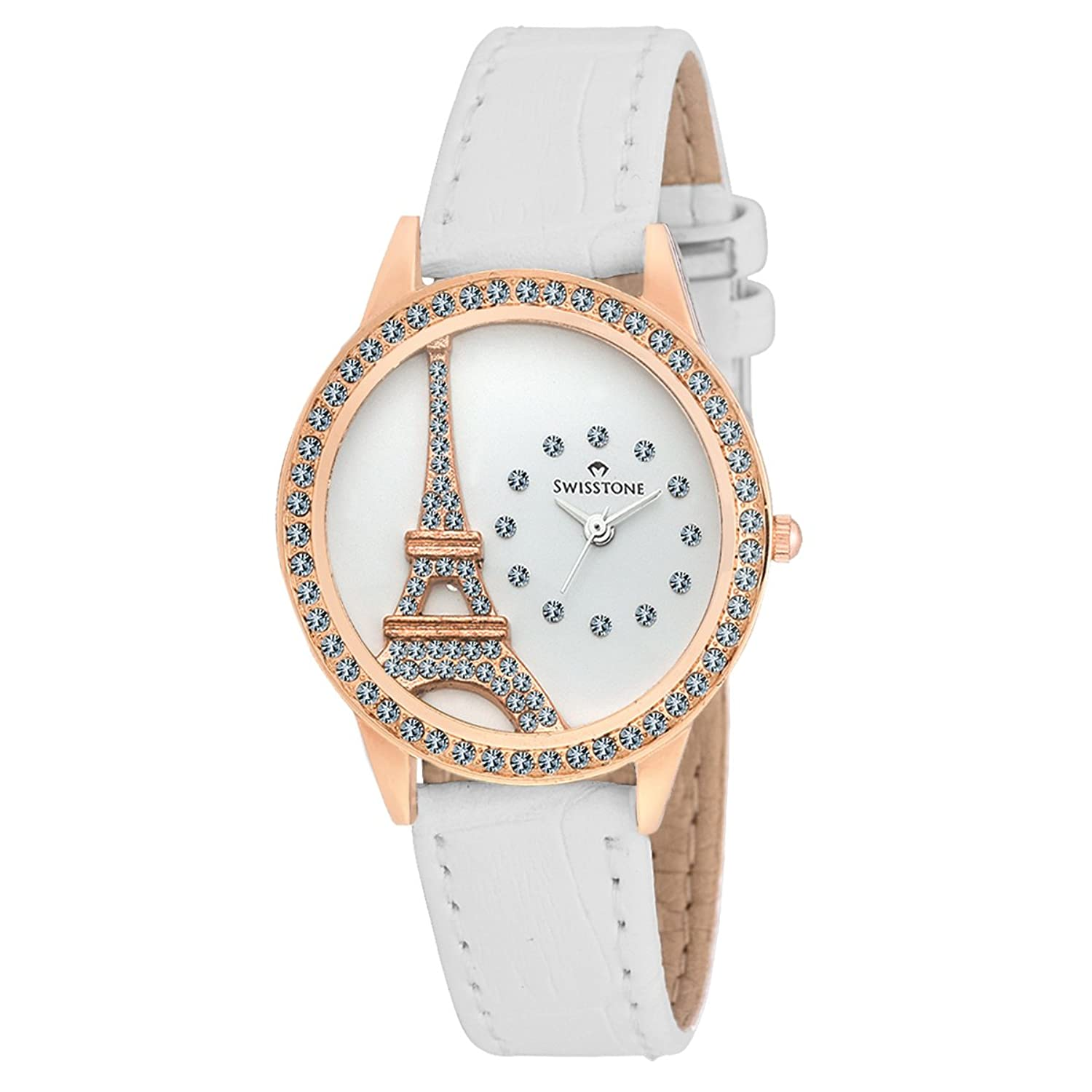 Buy Swisstone Analogue White Dial Women\'S And Girl\'S Watch-Jewels ...