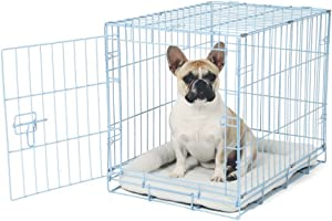 Single Door Metal Dog Crate Carlson Pet Deluxe Pet Crate - Small