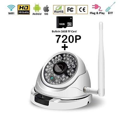 Amazon com: Outdoor IP Camera 720P Home Security Surveillance Camera