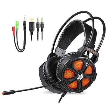 Alian Auriculares inalámbricos Easysmx con Auriculares con micrófono y Auriculares para Juegos Auriculares con micrófono y