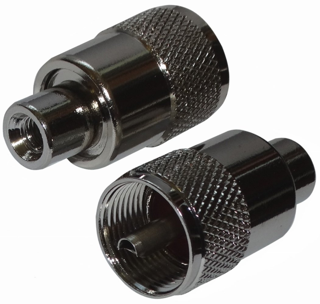 AERZETIX: 2 x Conectores enchufe UHF PL-259 para cable RG58 twist-on