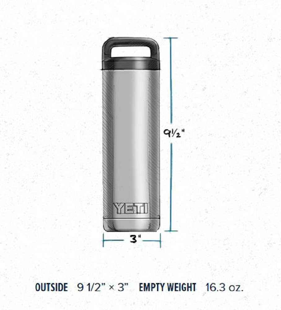 YETI Rambler 18 oz Stainless Steel Vacuum Insulated Bottle with Cap by YETI (Image #2)