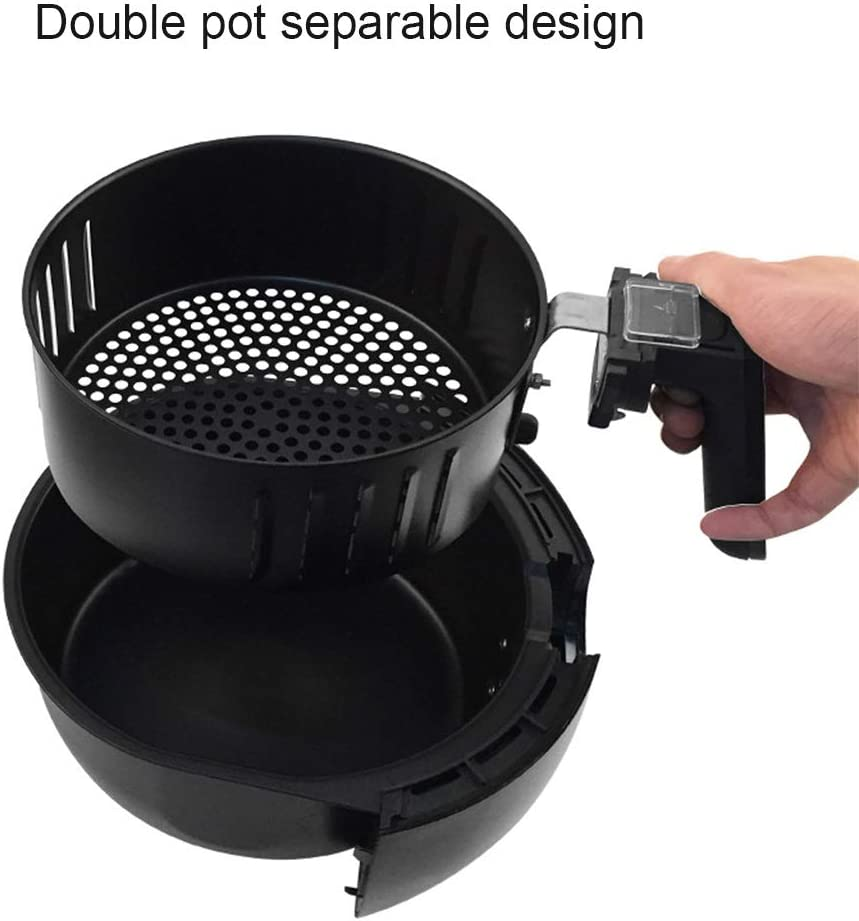 Freidora de aire sin aceite 2.5L con libro de cocina, freidora ...
