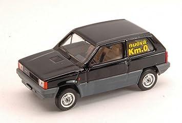 BRUMM BM0387-06K0 FIAT PANDA 45 1980 NERO LUXOR KM 0 1:43 MODELLINO DIE CAST: Amazon.es: Juguetes y juegos