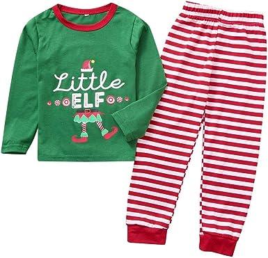 ASHOP Conjunto de Pijamas Combinados de Navidad para bebés ...