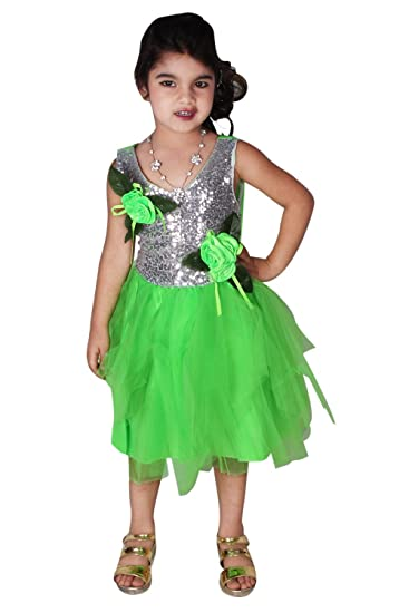 602180e6d27c Buy Baby And Blossoms New Arrival Bling Birthday Party Wear High Quality  Net Frock Dress For Girls (3-5 Years) (Green Color) Online at Low Prices in  India ...