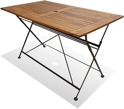 Table de jardin Table pliante bois table de balcon pliable Massif d/'appoint jardin