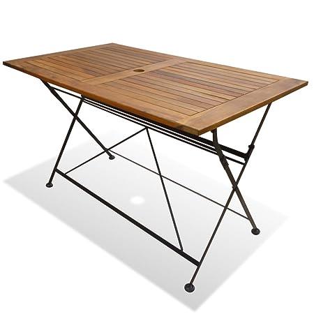vidaXL Table Pliable de Jardin Bois Acacia Table d\'Extérieur ...