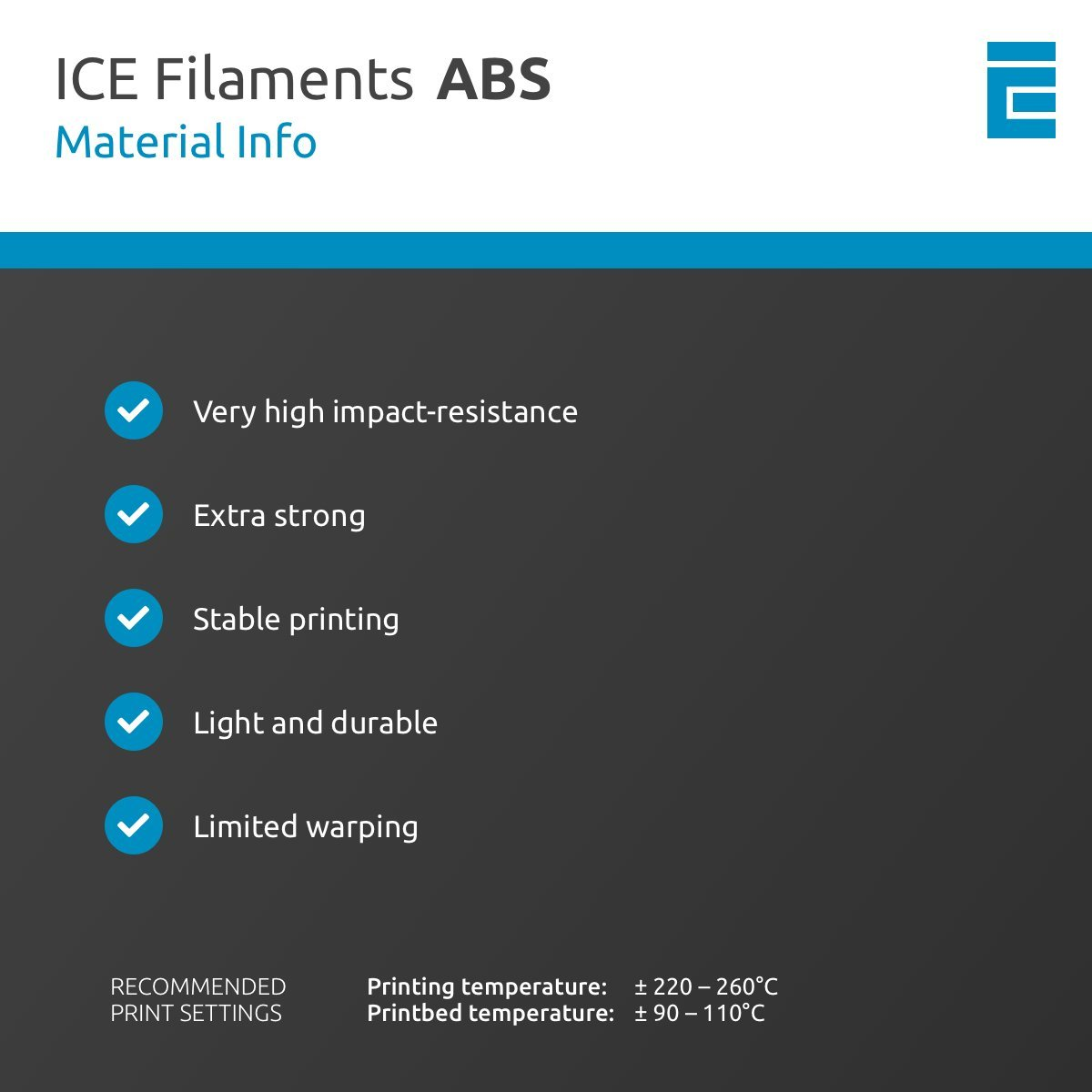 ICE Filaments ICEFIL3ABS099 filamento ABS,2.85mm, 0.75 kg, Daring ...