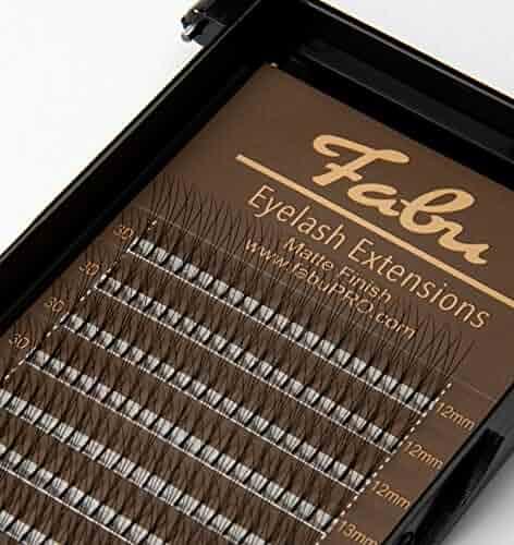 1b7c81189cd Fabu Eyelash Extensions Russian Volume 3D Handmade Fans C curl, 0.10, MIX  (12mm