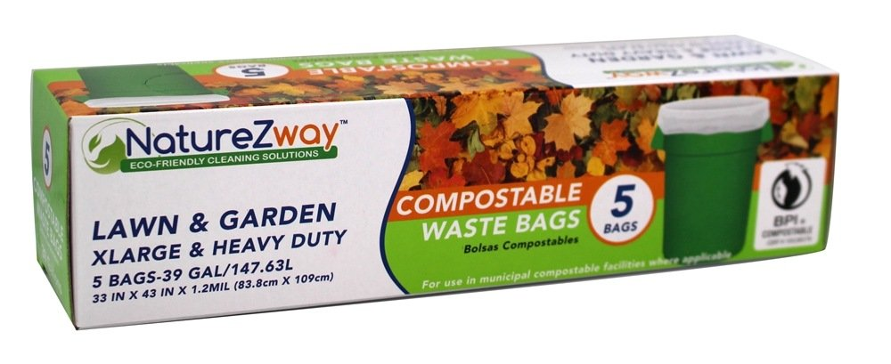 NATUREZWAY, 39 Gallon Waste Bags, 5 CT