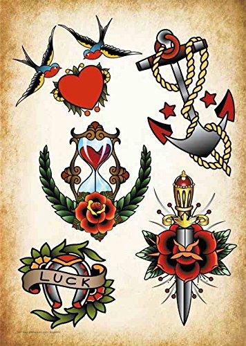 Oldschool Edel Motive Tattoo Vorlagen Amazon 8