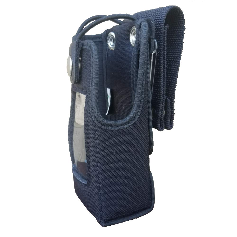 Case Guys KW9032-5BW Rigid Nylon Swivel Belt Loop Holster Case with Bungee Cord for Kenwood NX-5000 Series TK-5230 VP5000 Two Way Radios