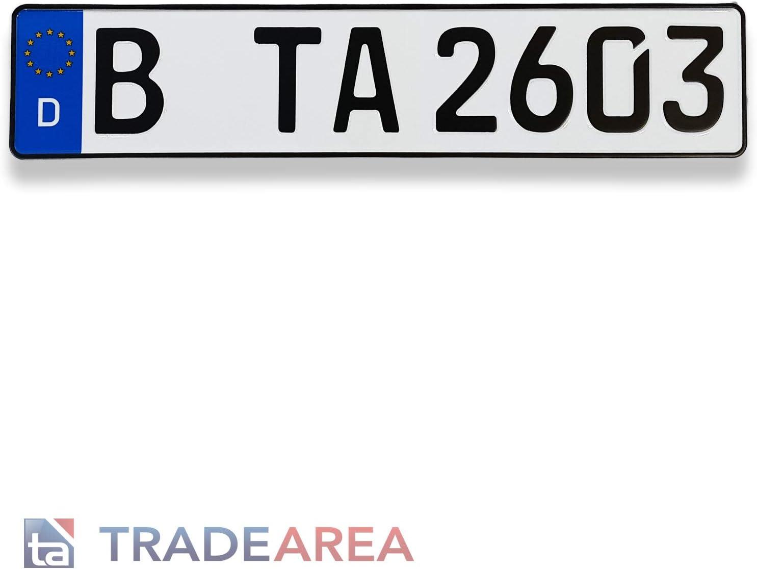 1 Stück Eu Kfz Kennzeichen Nummernschild 520 X 110 Mm Auto