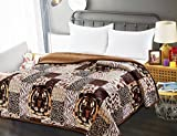Osaka Z&Z_Inc New Machine Washable Combined Blanket (Flannel+Sherpa) Velvety Soft Comfort (Tiger and animal prints, King)