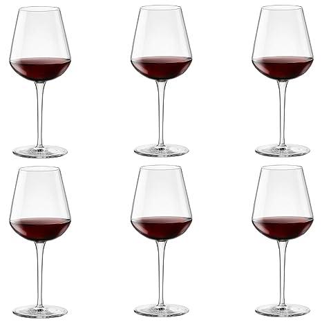 c7fad131bdca Amazon.com | Bormioli Rocco Inalto Uno Large Wine Glass - 560ml - Pack of 6  Drinking Glasses: Wine Glasses