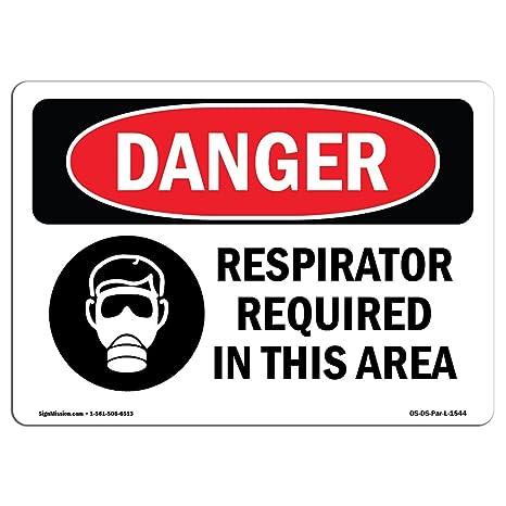 Amazon.com: Señal de peligro de OSHA – Requiere un ...