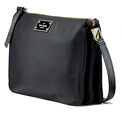 629eabdb7e3d7 Amazon.com  Kate Spade New York Wilson Road Madelyne Nylon Crossbody in  Black  Shoes